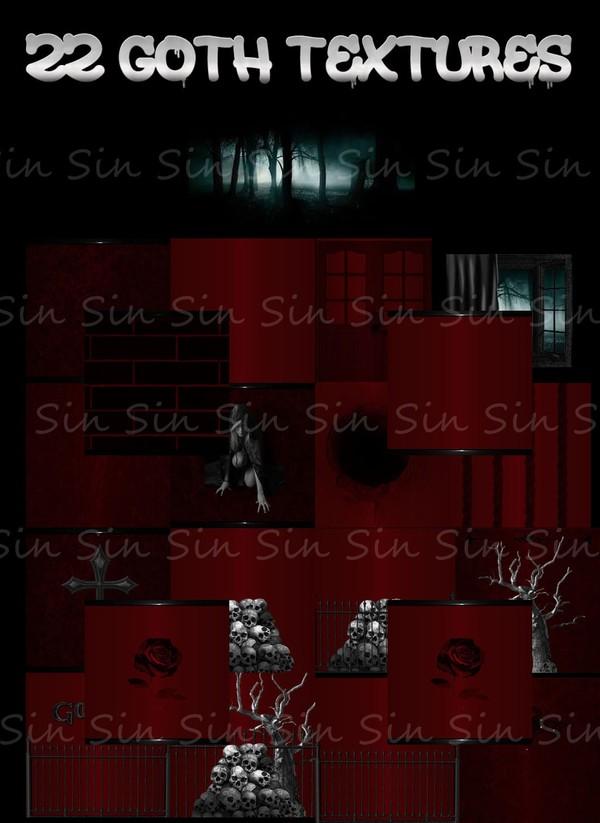 22 Goth Textures (IMVU)