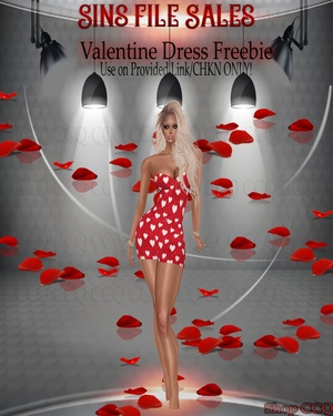 ♥Valentine Dress Freebie♥(CHKN Included)