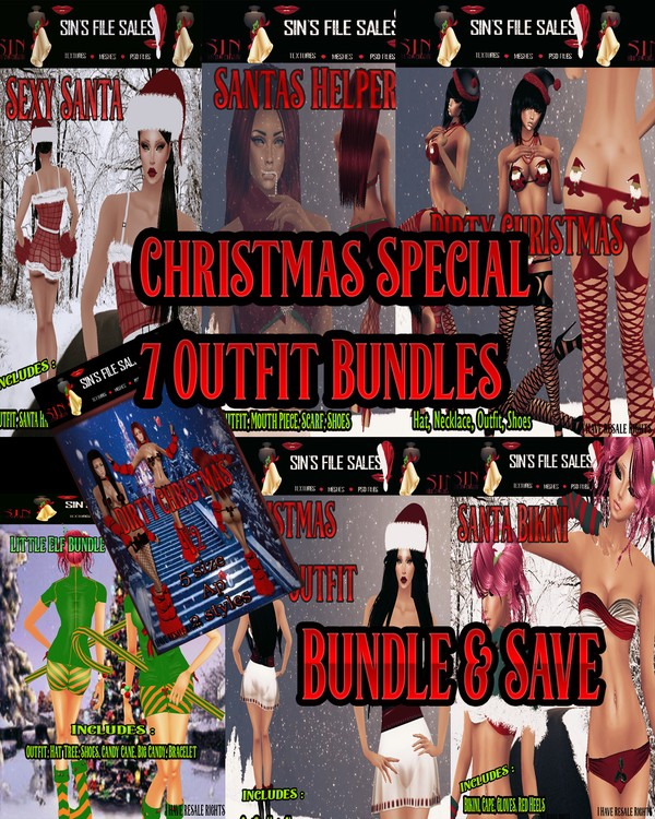 🎅 Christmas Clothing Special.. 7 Sexy Outfits Included🎅
