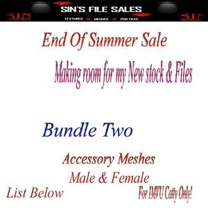 End Of SUMMER SALE!! Accessory Mesh Bundle!