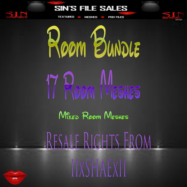 Room Mesh Bundle *17 Meshes Included *Less then .60 Cents Per Mesh* LIMITED TIME!