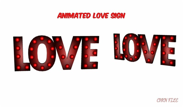 Animated Love Sign *Mesh