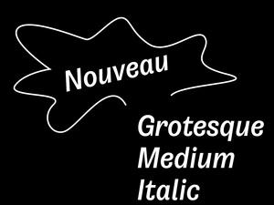 Nouveau Grotesque Medium Italic Desktop 1-3 User
