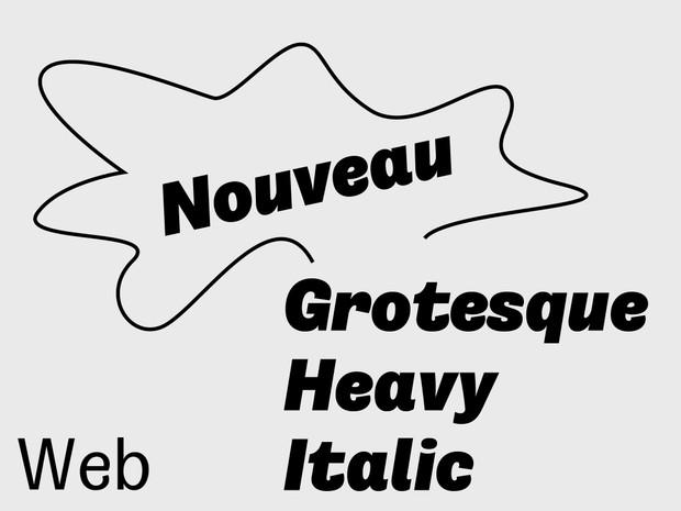 Nouveau Grotesque Heavy Italiuc Web 10.000 Pageviews