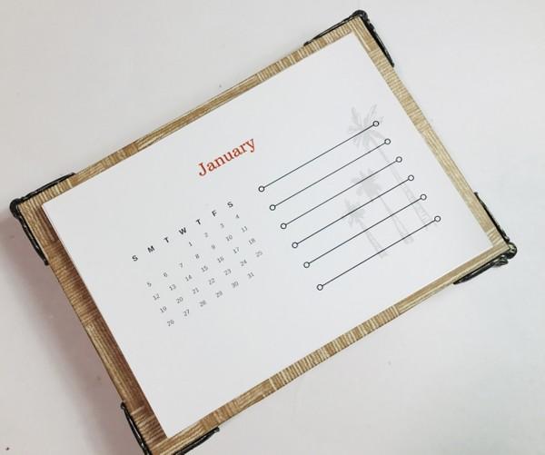 2020 Masculine Calendar Instruction PDF