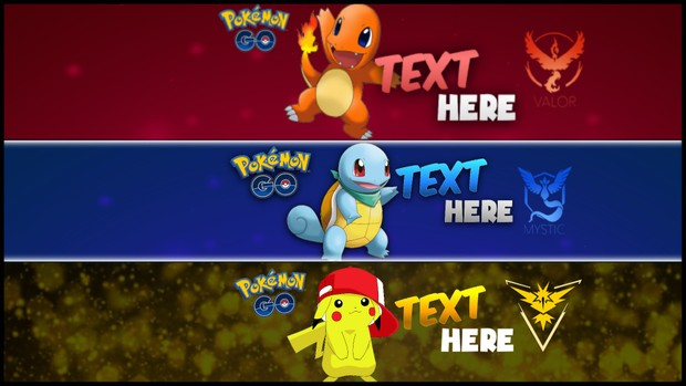 Team Pokemon Banners Watercolor Vector Banners
