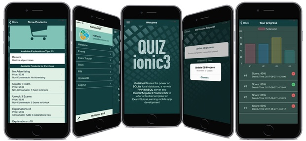 Quizionic3 - The Best and Complete Ionic3 Quiz App Template w/local SQLite DB & PHP/MySQL backend