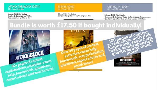 District 9 / Attack the Block / Tsotsi GCSE Film Studies mega-bundle!