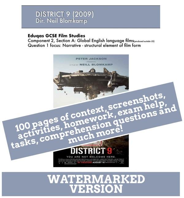 DISTRICT 9 Eduqas GCSE Film Studies study / viewing guide / text book / e-book / revision guide
