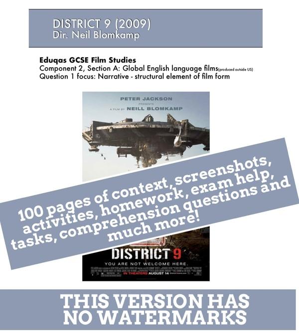 DISTRICT 9 Eduqas GCSE Film Studies study / viewing guide / text book / e-book / revision guide.