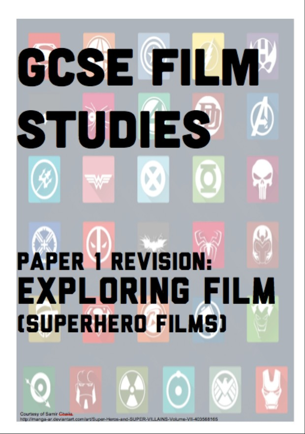 GCSE Film Studies Revision guide for WJEC Paper 1 Exploring Film Superhero films