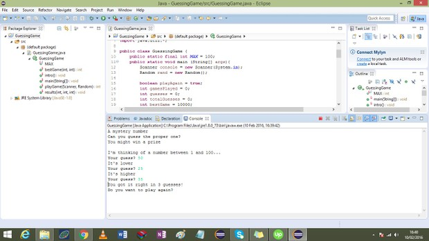 Programming Assignment #5: Guessing Game