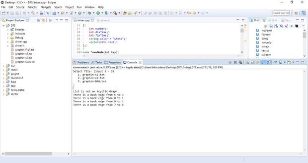 CS 340 Programming Assignment III:  Topological Sort Solution