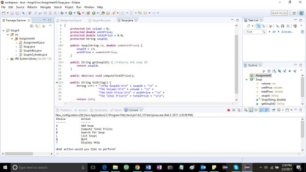 Assignment5.java Solution