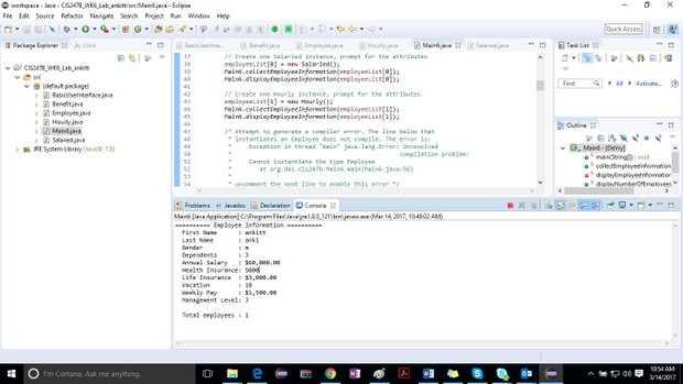 CIS247 iLab 6: Abstract Classes Solution