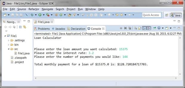 Assignment #1 Loan Calculator Solution