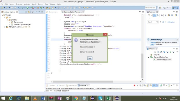 Programming Project #2 – Guessing Game