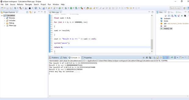 C++ program that performs the calculation Solution
