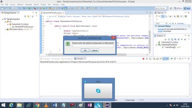 Java class to convert Fahrenheit temperature to Centigrade