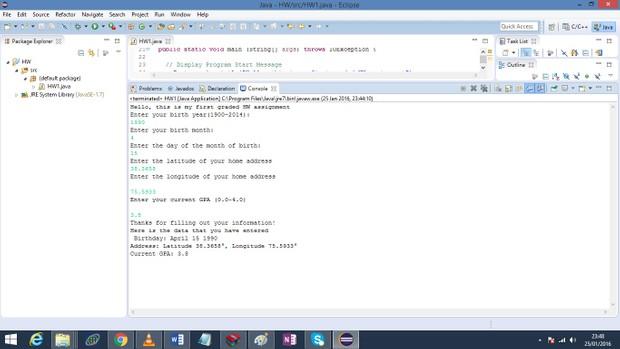 a Java program prompts a user to enter demographic information