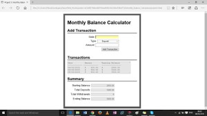 Future Value Calculator and Monthly Balance Calculator