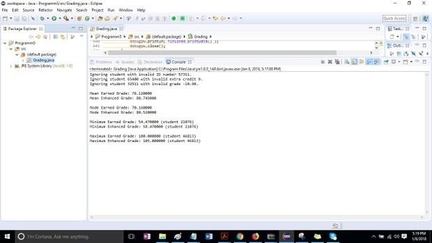 Program 5 – Grading  Solution