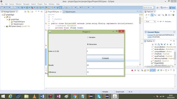 Project 3  program to calculate the terms of a sequence Solution