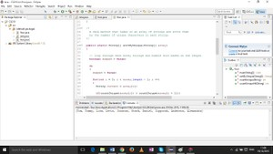 Java method that takes in an array of strings and sorts them