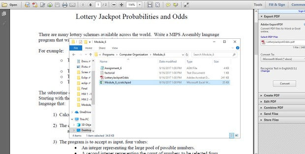 Lottery Jackpot Probabilities and Odds Solution