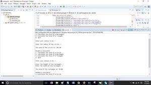 Module 08 Post-Assessment Part 2 Geometry Calculator Solution