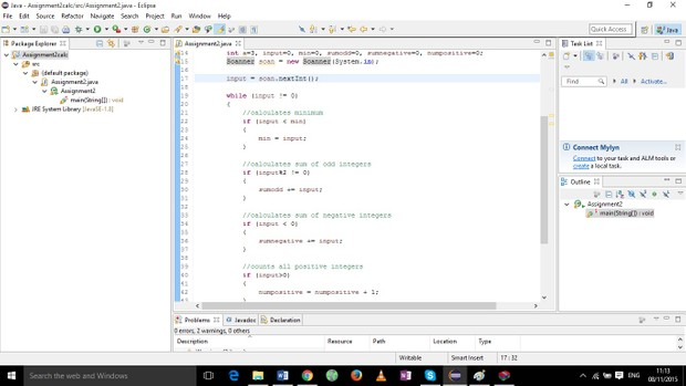 This file reads integer inputs and performs calculations, like minimum, sum of odds.....