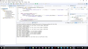 Write a Java program for a simple bank account Solution