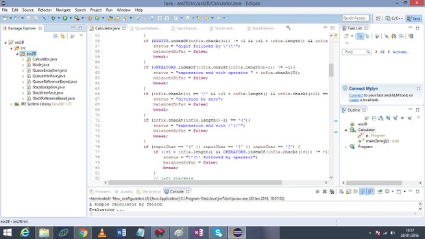 Part B – A Simple Calculator Program