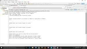 Java program to compute the person's BMI and calories (men/women )