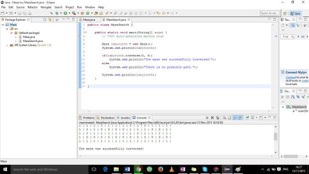 Maze Java program