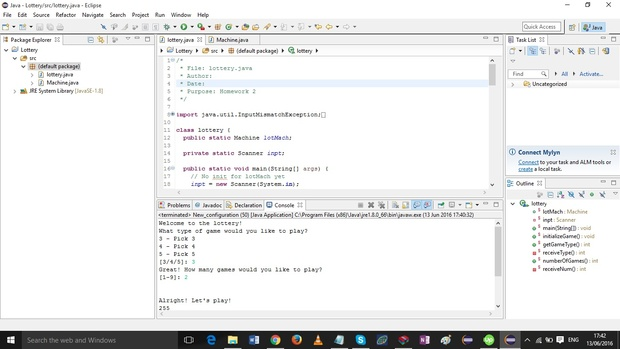 Java program to simulate a pick 3, 4 or 5 lottery drawing