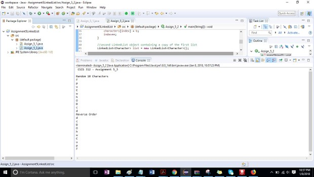 CSIS 312 Assignment 5 LinkedList Object Solution