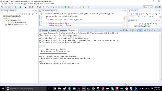 Module 09 Post-Assessment Part 2 Password Verifier Solution