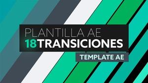 18 Transiciones Flat - Plantilla After Effects