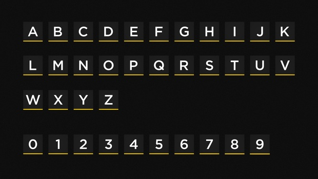 Airport Font Animated [After Effects Template]