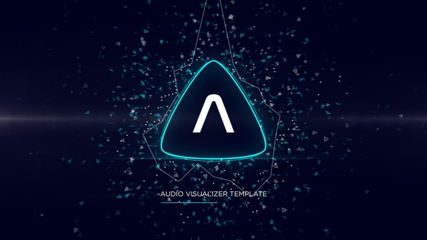 Triangle Music Visualizer After Effects Template