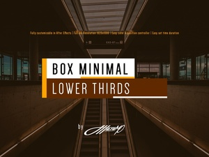 Box Minimal Lower Thirds - After Effects Template
