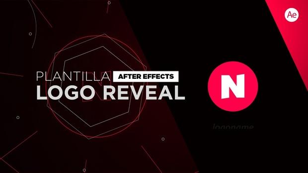 Logo Reveal Tech Plantilla After Effects
