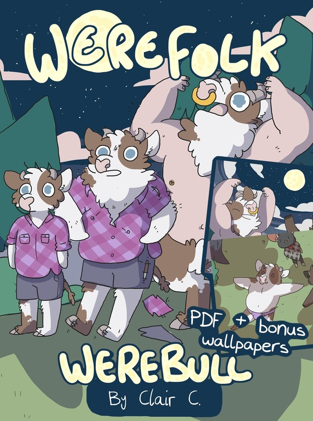 Werefolk: Werebull PDF & Wallpaper Bundle