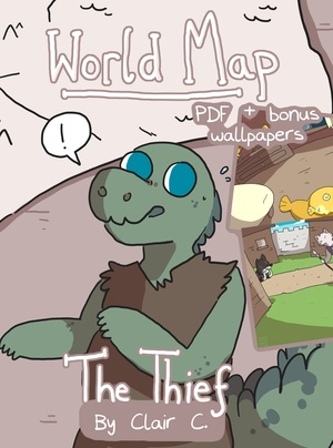 World Map: The Thief PDF & Wallpaper Bundle