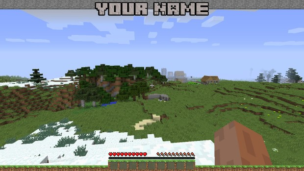 Minecraft Gaming Overlay Template!