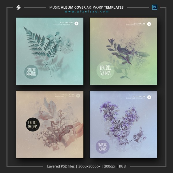 Chill Music Album Cover Templates Pack