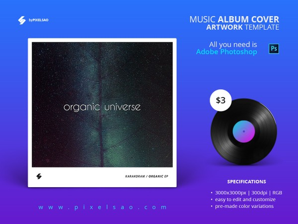 Organic Universe - Music Album Cover Artwork Template