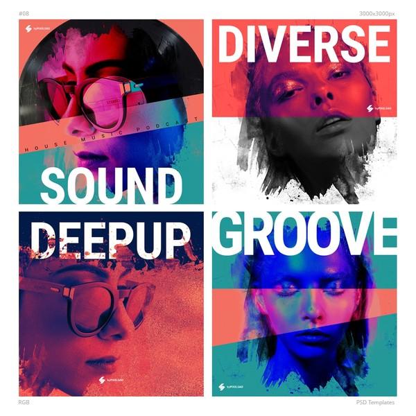 Music Album Cover Artwork Templates 08