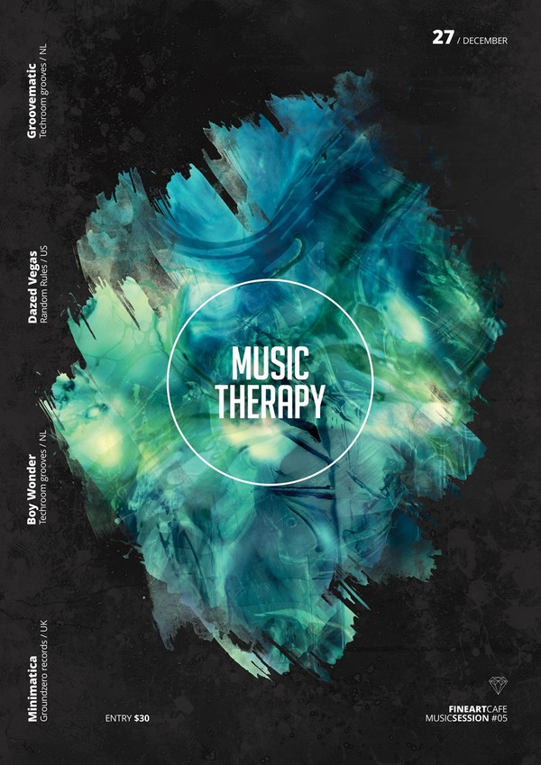 Party Flyer Template - Music Therapy DJ Session